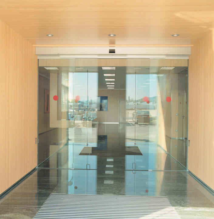 Puertas autom ticas de cristal norpa puertas - Puertas abatibles cristal ...