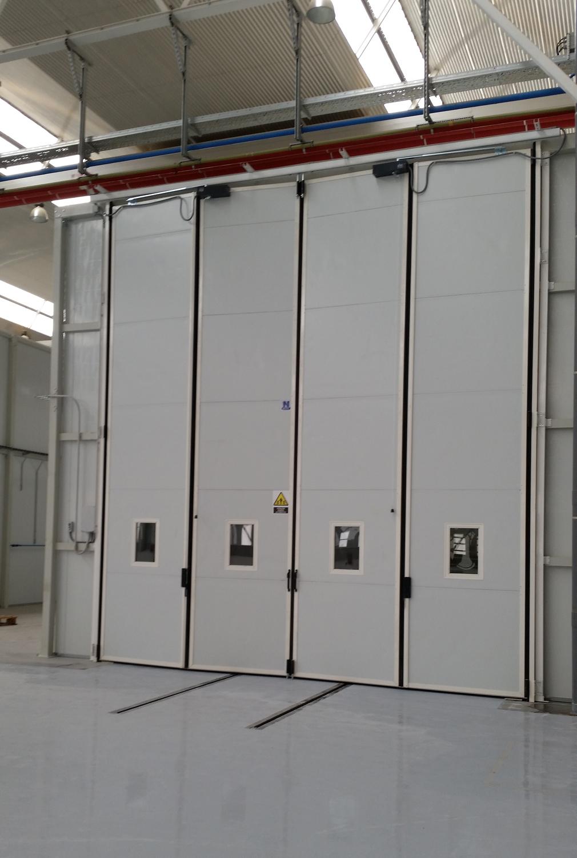 puertas automaticas plegables para talleres